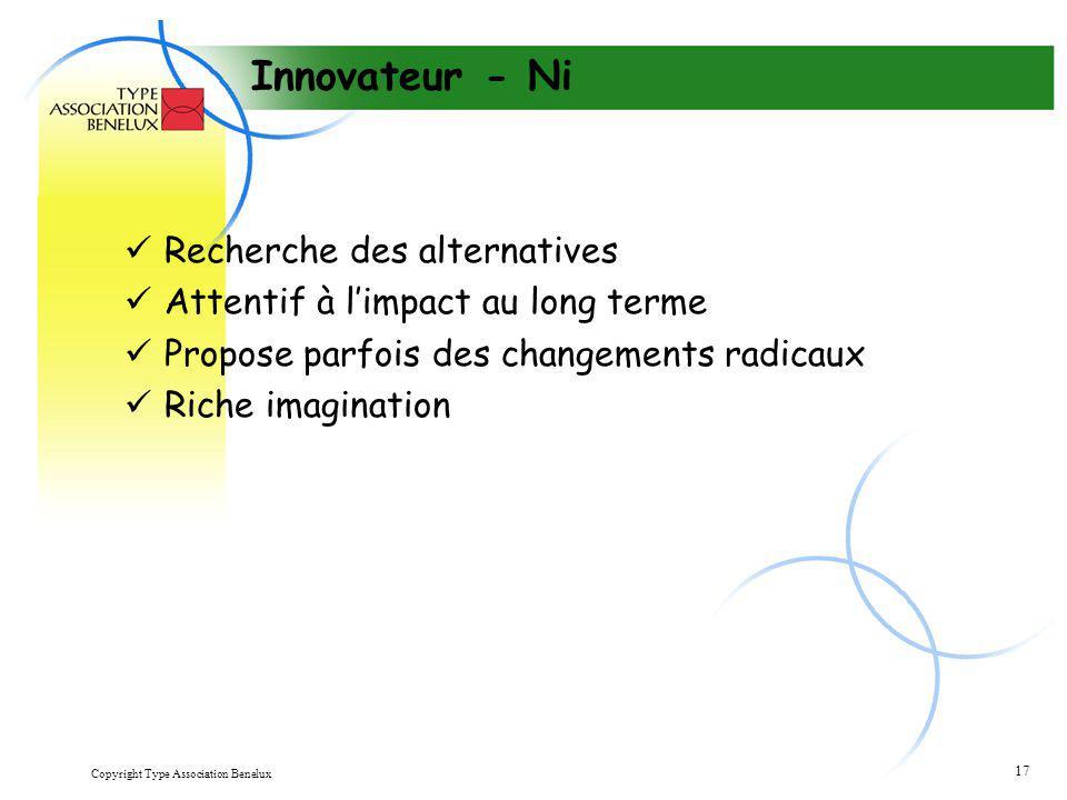 Innovateur - Ni Recherche des alternatives