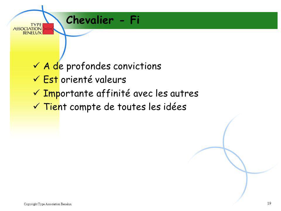 Chevalier - Fi A de profondes convictions Est orienté valeurs