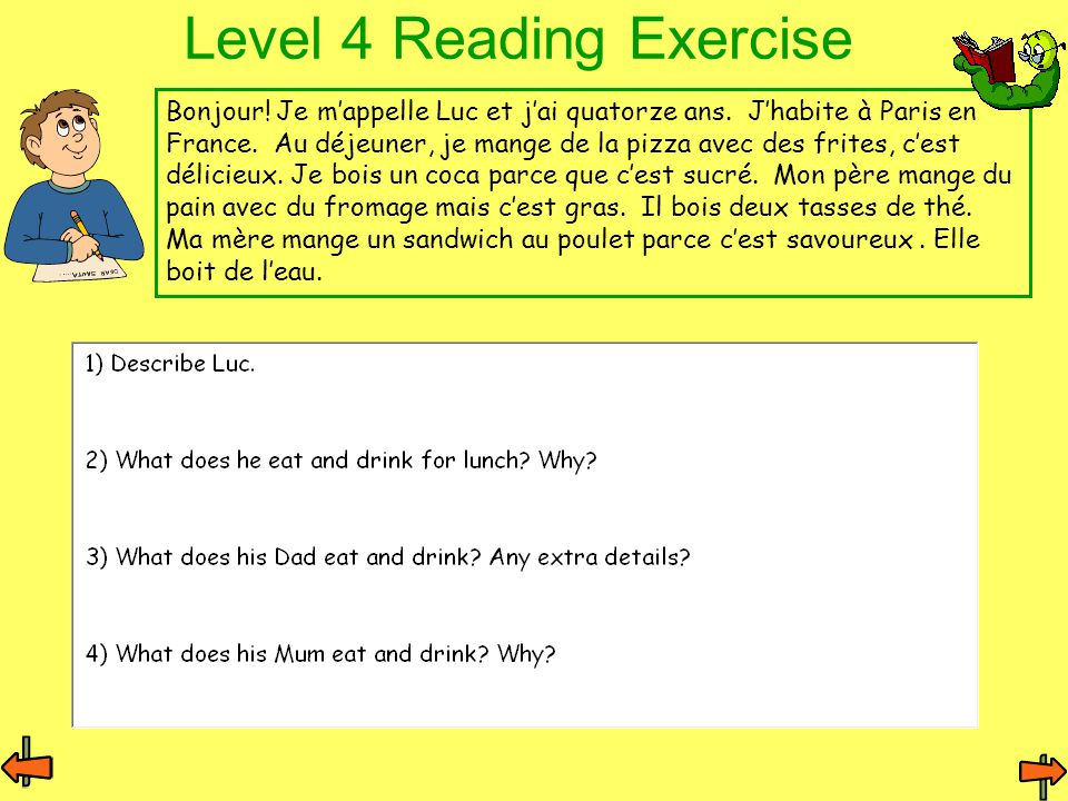 Level 4 Reading Exercise
