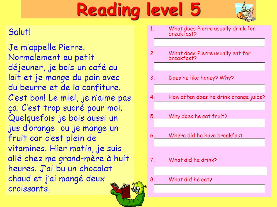 Reading level 5 Salut!