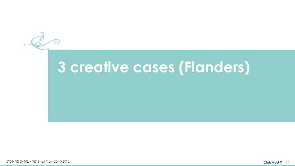 3 creative cases (Flanders)