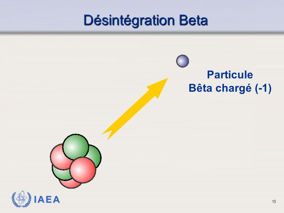Désintégration Beta Particule Bêta chargé (-1)
