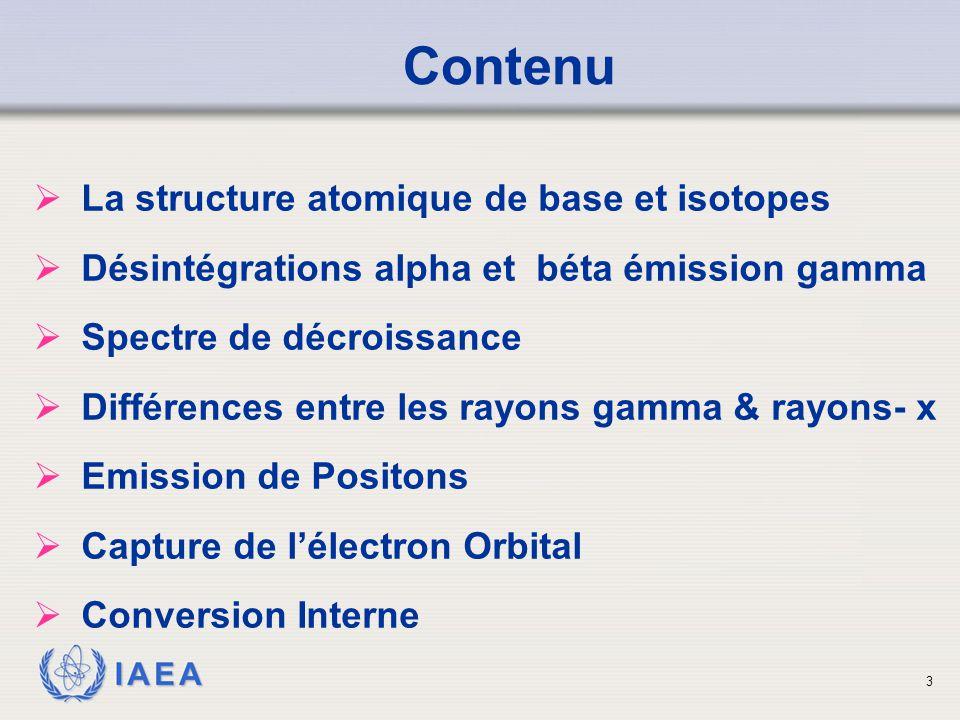 Contenu La structure atomique de base et isotopes