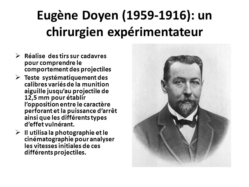Eugène Doyen (1959-1916): un chirurgien expérimentateur