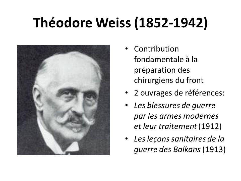Théodore Weiss (1852-1942) Contribution fondamentale à la préparation des chirurgiens du front. 2 ouvrages de références: