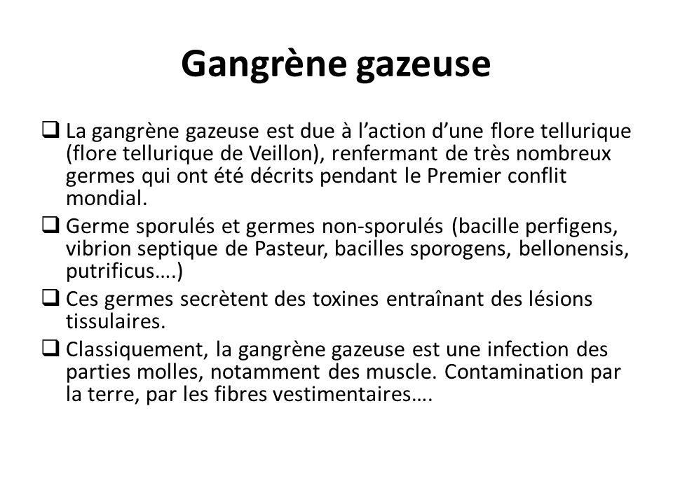 Gangrène gazeuse
