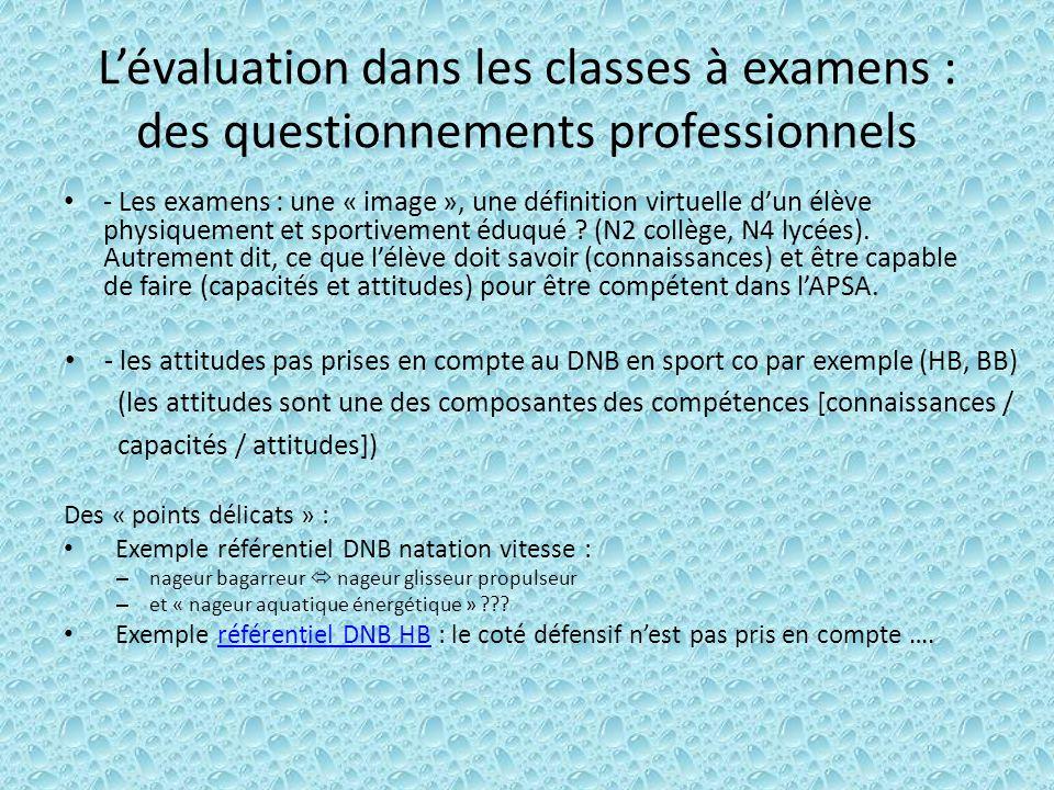 L'évaluation dans les classes à examens : des questionnements professionnels