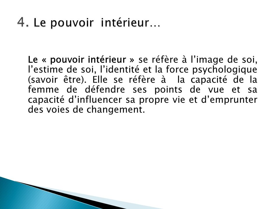 4. Le pouvoir intérieur…