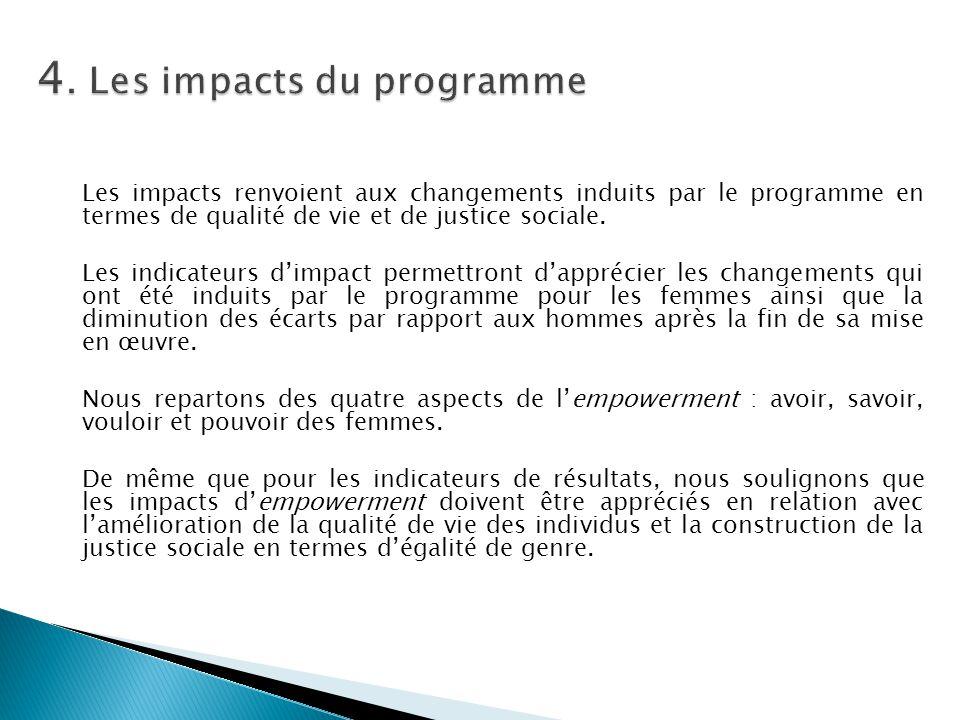 4. Les impacts du programme