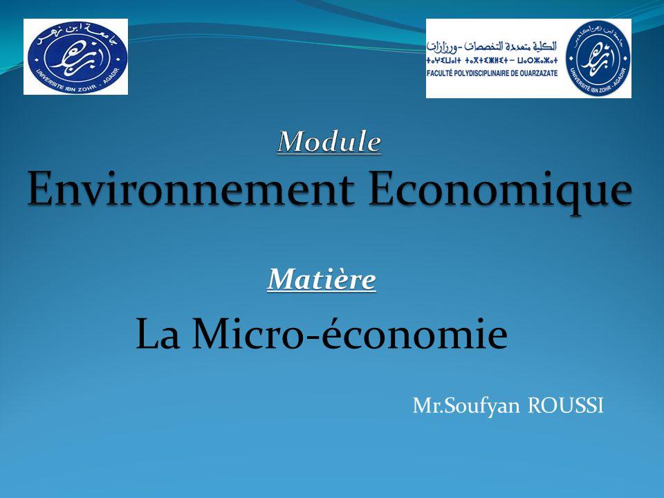 Module Environnement Economique