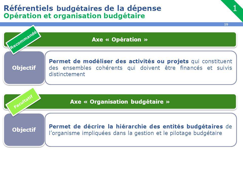 Axe « Organisation budgétaire »