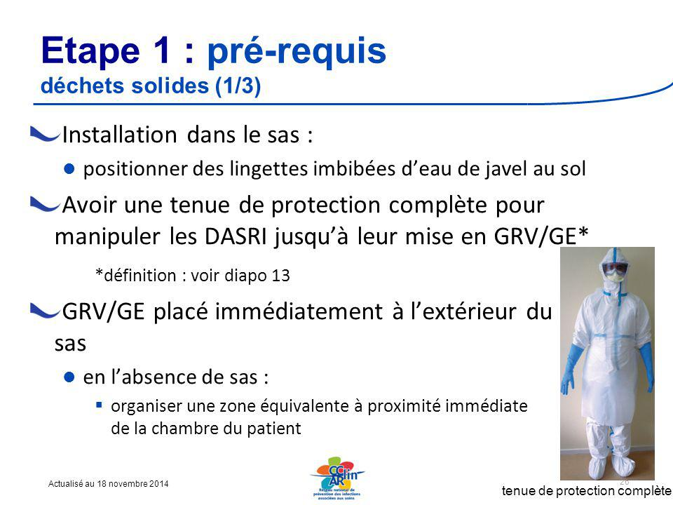 Etape 1 : pré-requis déchets solides (1/3)