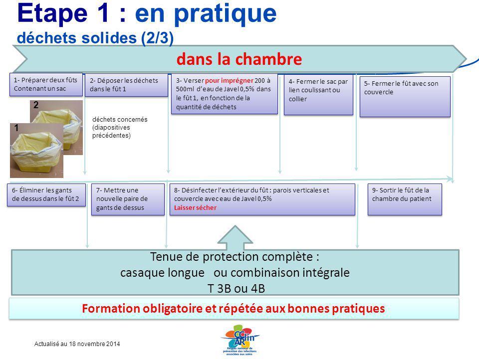 Etape 1 : en pratique déchets solides (2/3)