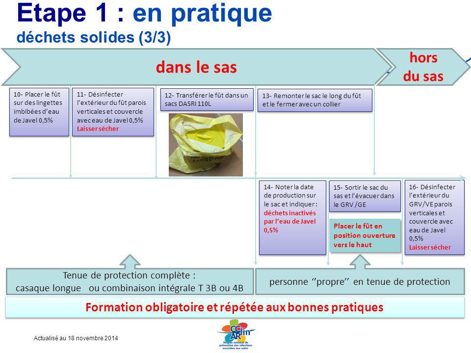 Etape 1 : en pratique déchets solides (3/3)