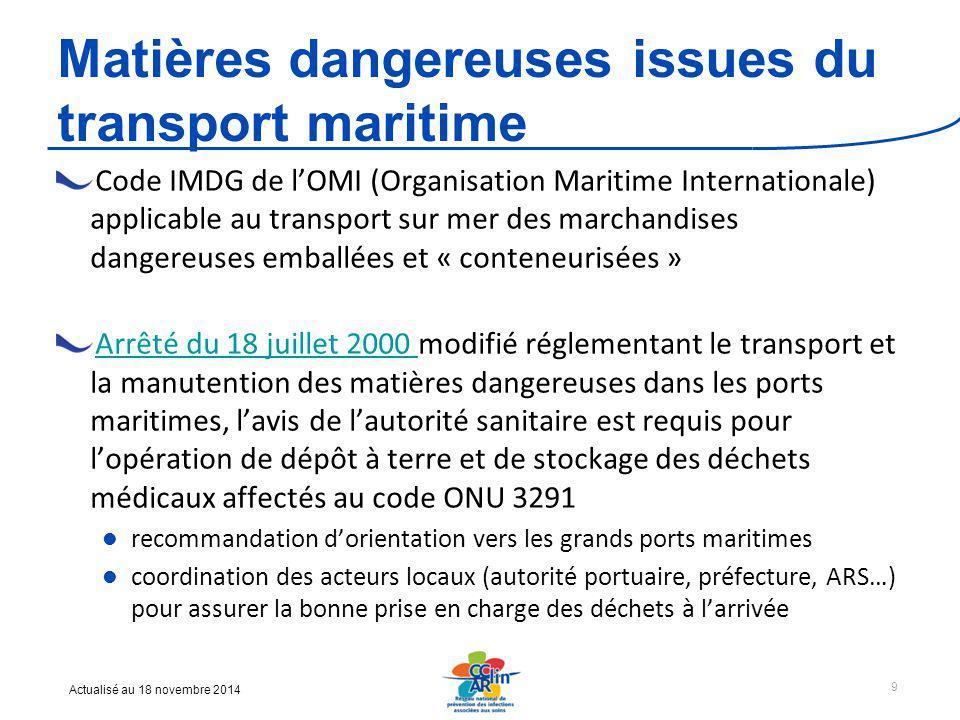 Matières dangereuses issues du transport maritime