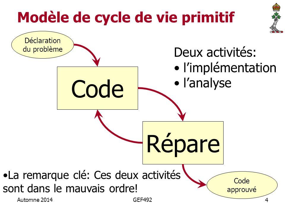 Modèle de cycle de vie primitif