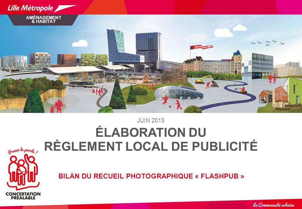 ÉLABORATION DU RÈGLEMENT LOCAL DE PUBLICITÉ