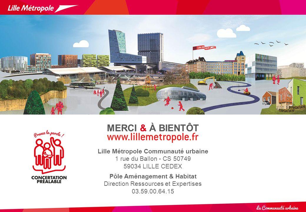Lille Métropole Communauté urbaine Pôle Aménagement & Habitat