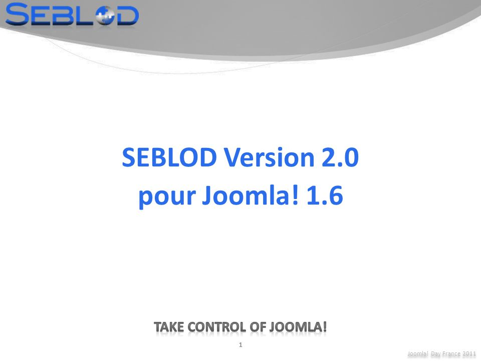 SEBLOD Version 2.0 pour Joomla! 1.6