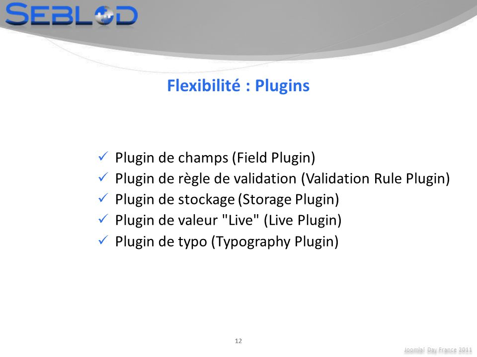 Flexibilité : Plugins Plugin de champs (Field Plugin)