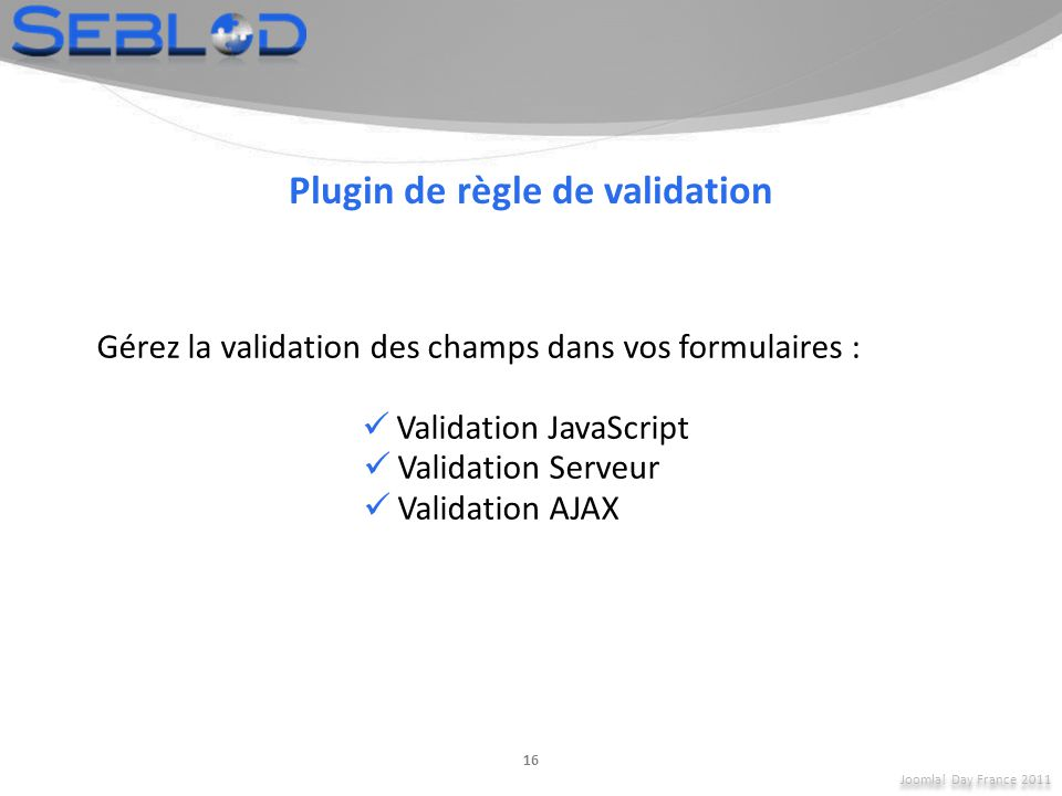 Plugin de règle de validation