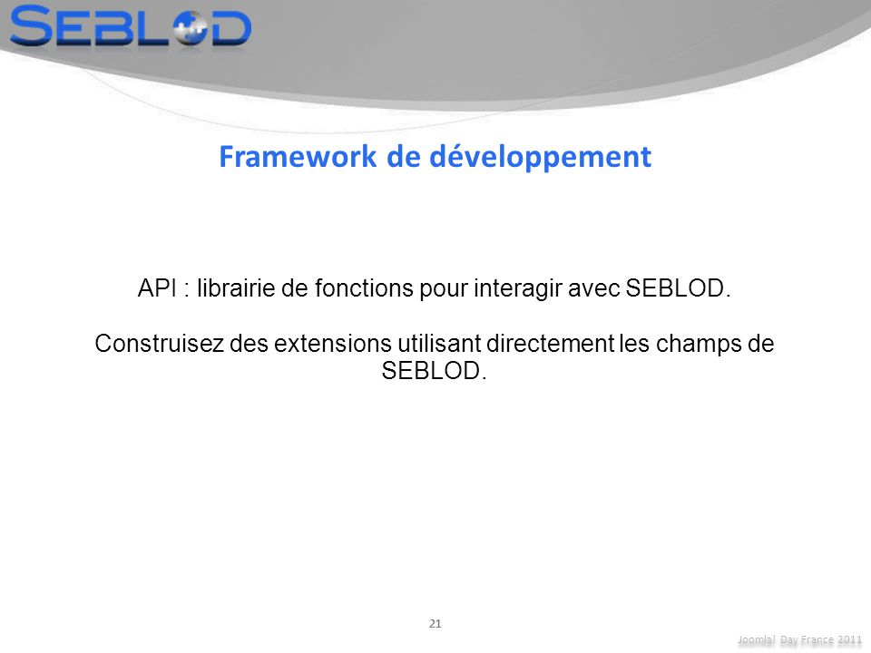 Framework de développement