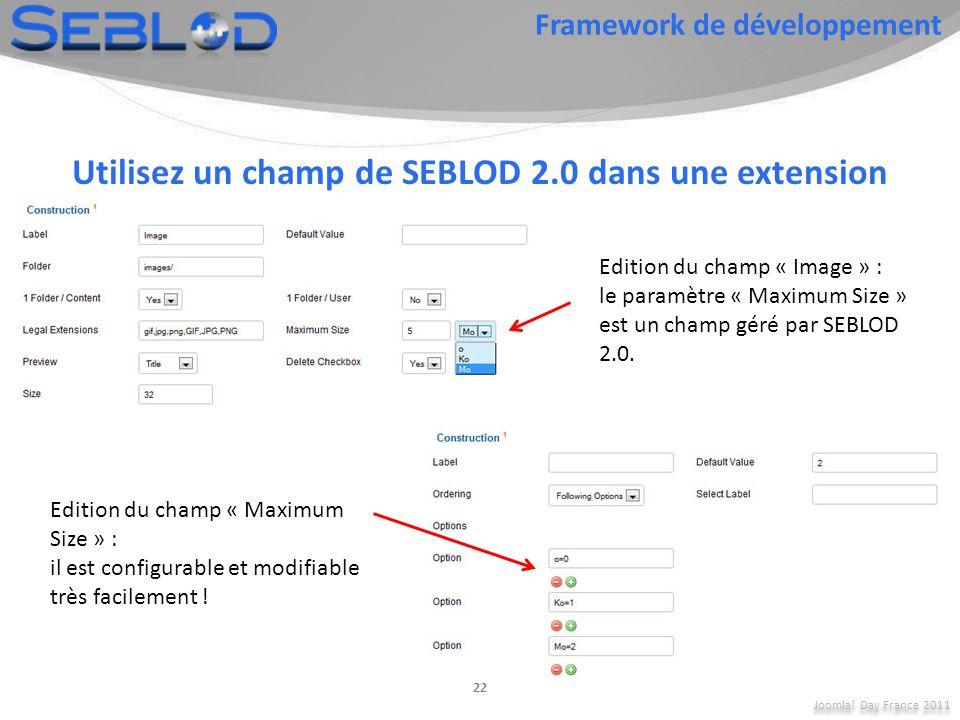 Utilisez un champ de SEBLOD 2.0 dans une extension