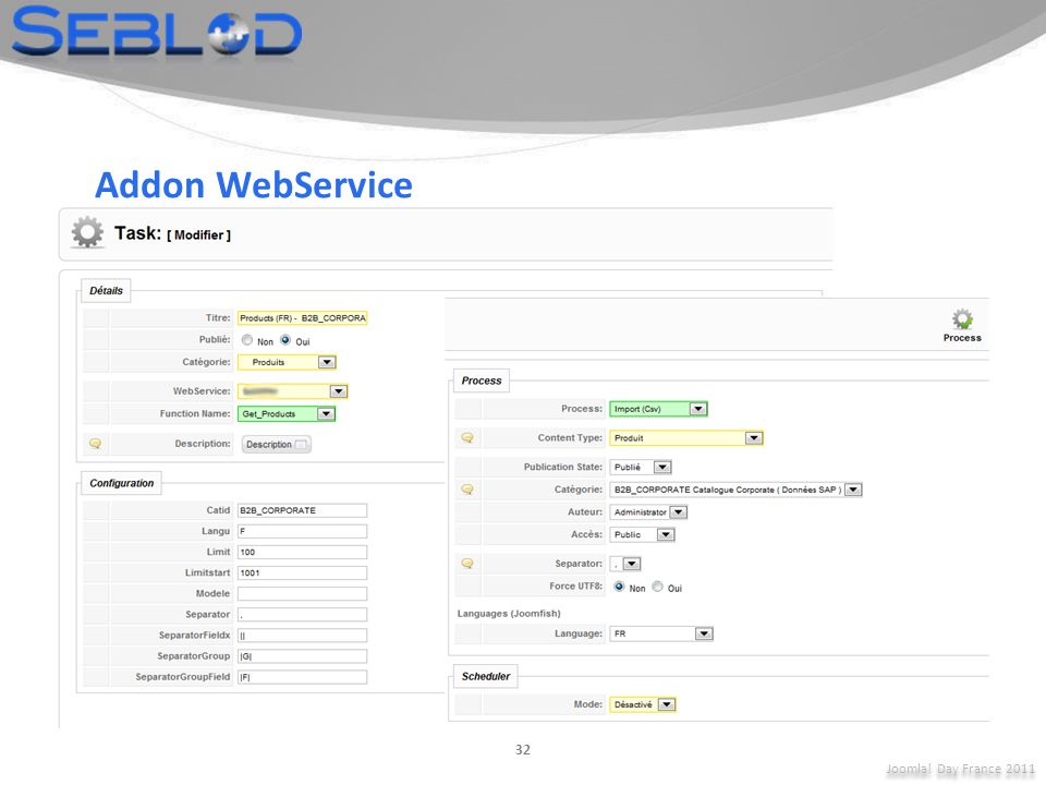 Addon WebService Joomla! Day France 2011