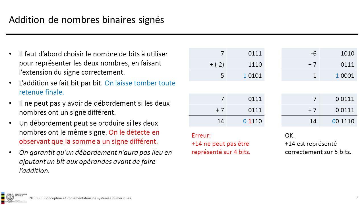 Addition de nombres binaires signés