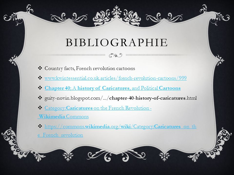 Bibliographie Country facts, French revolution cartoons