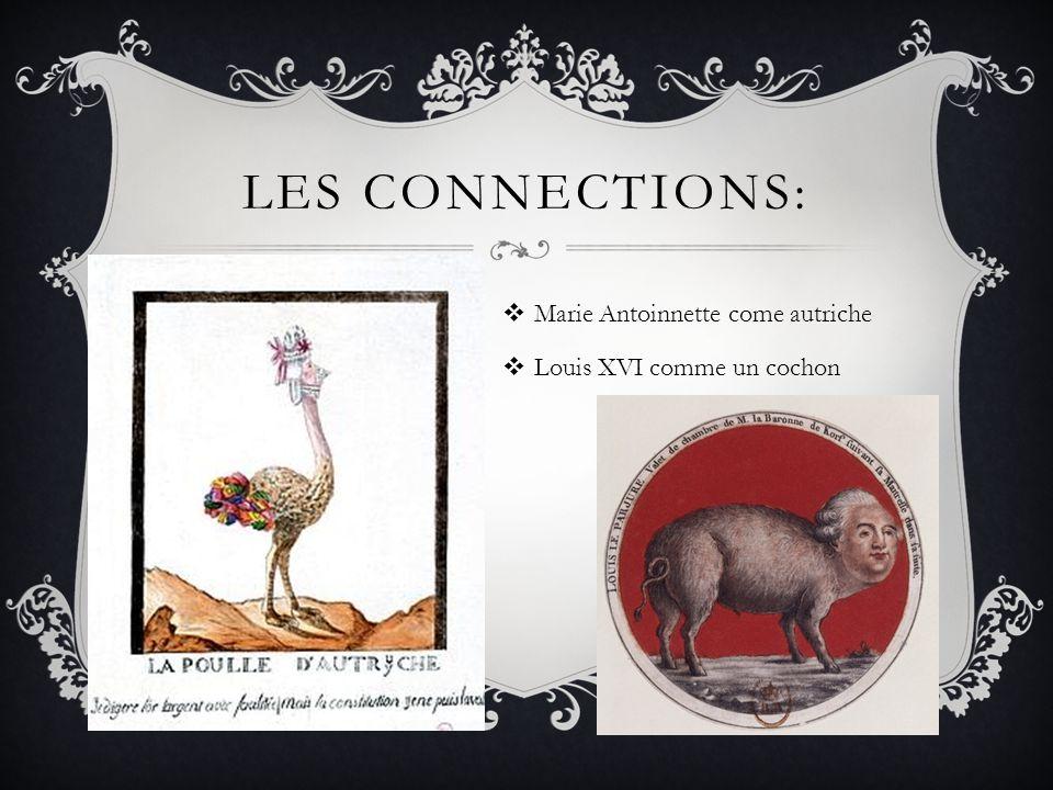 Les connections: Marie Antoinnette come autriche