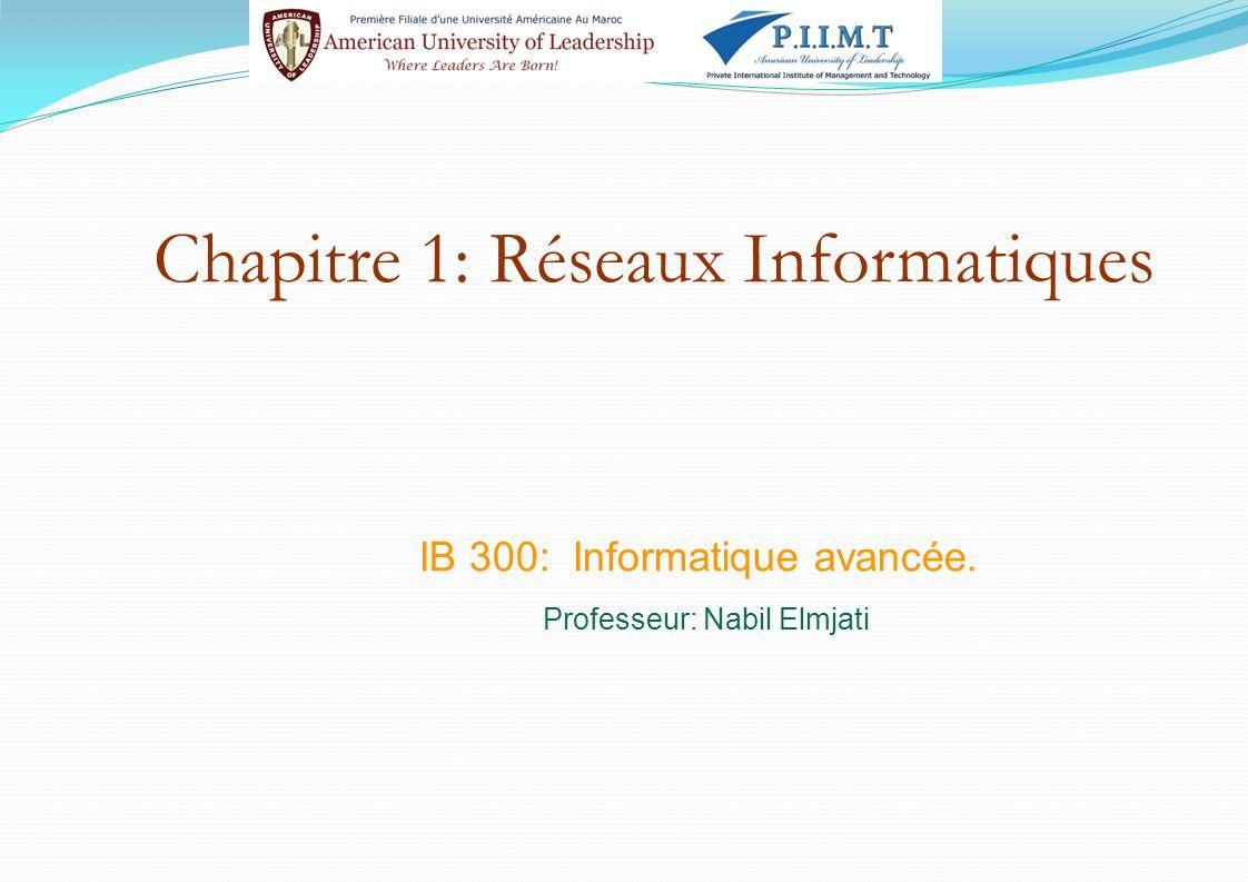 Chapitre 1: Réseaux Informatiques