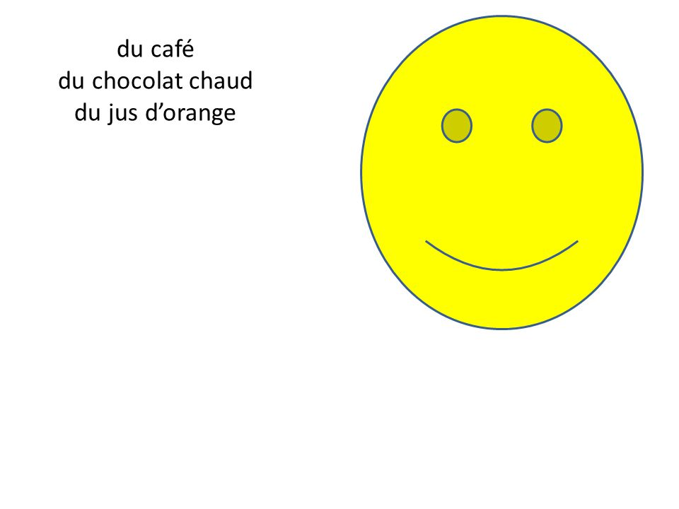 du café du chocolat chaud du jus d'orange