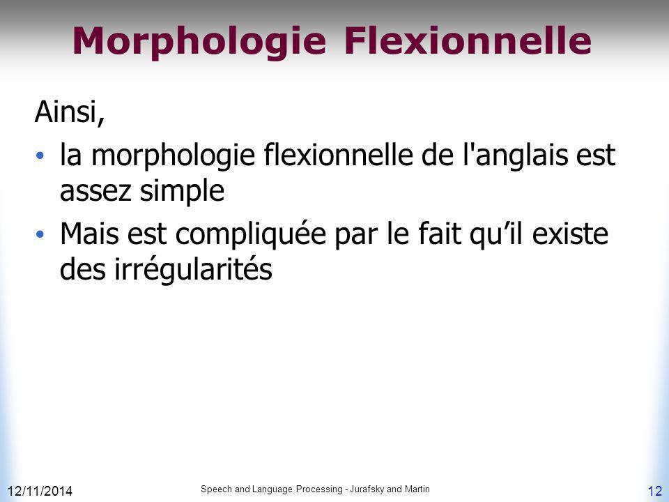 Morphologie Flexionnelle