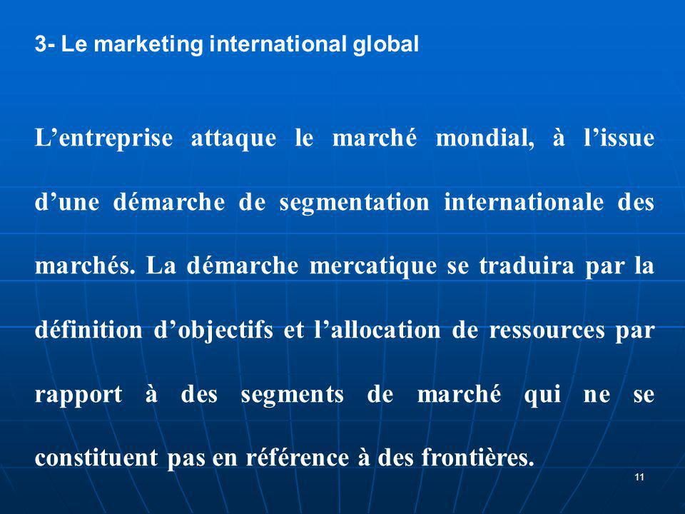 3- Le marketing international global