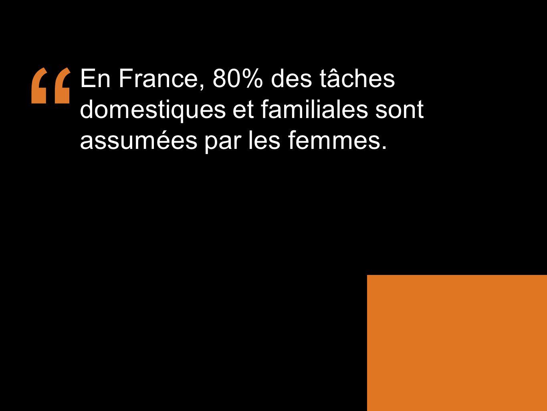 En France, 80% des tâches domestiques et familiales sont assumées par les femmes.