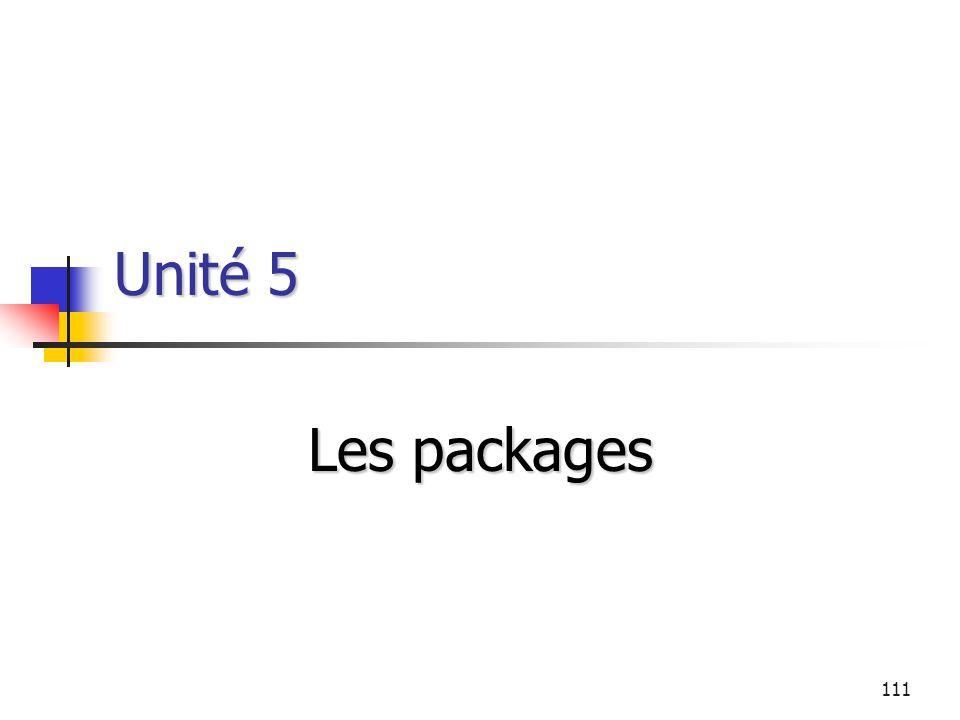 Unité 5 Les packages