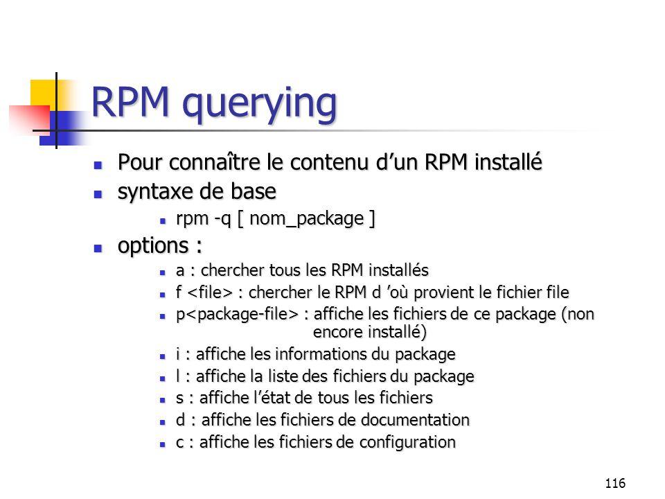 RPM querying Pour connaître le contenu d'un RPM installé