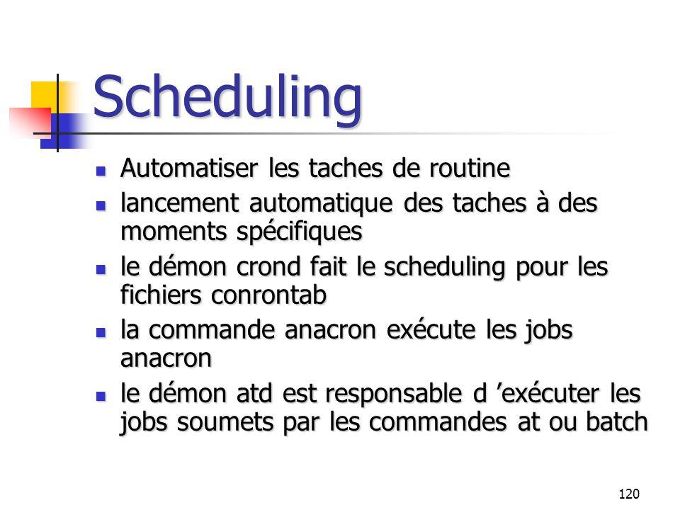 Scheduling Automatiser les taches de routine
