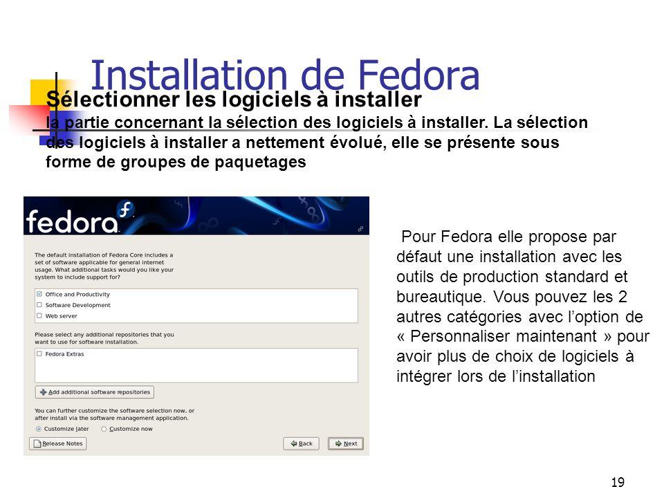 Installation de Fedora