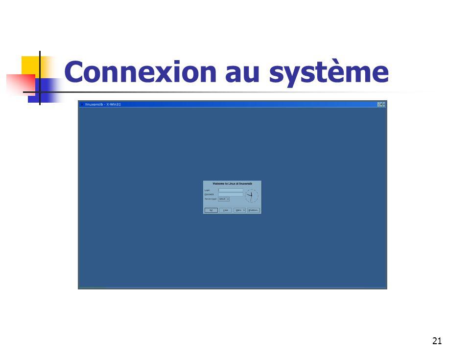 Connexion au système