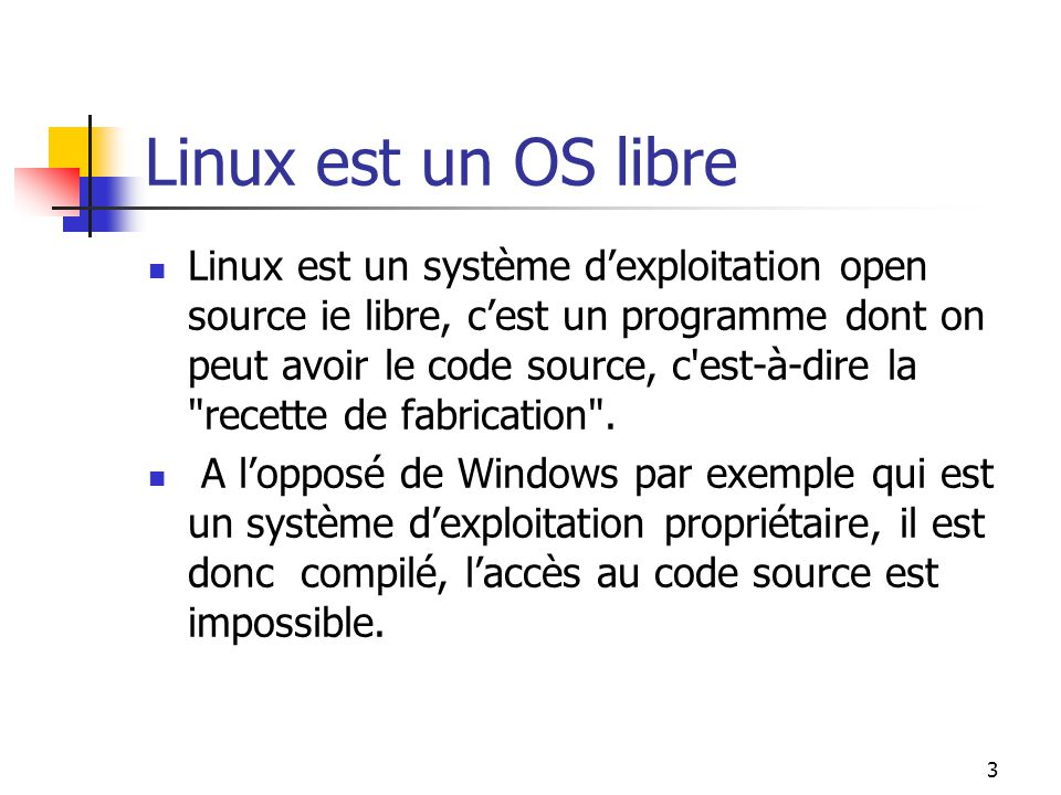 Linux est un OS libre