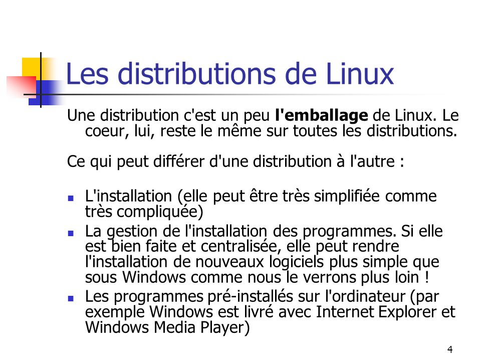 Les distributions de Linux