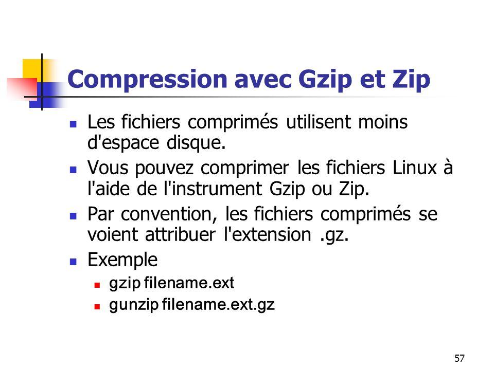 Compression avec Gzip et Zip