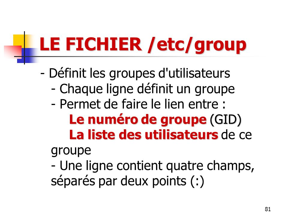 LE FICHIER /etc/group