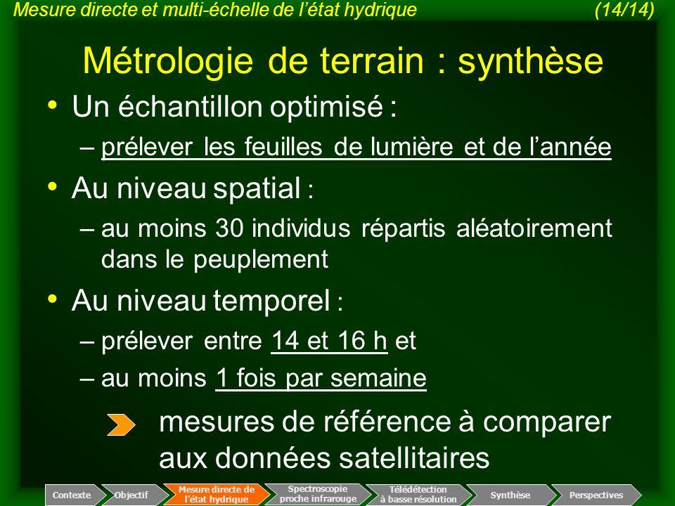 Métrologie de terrain : synthèse