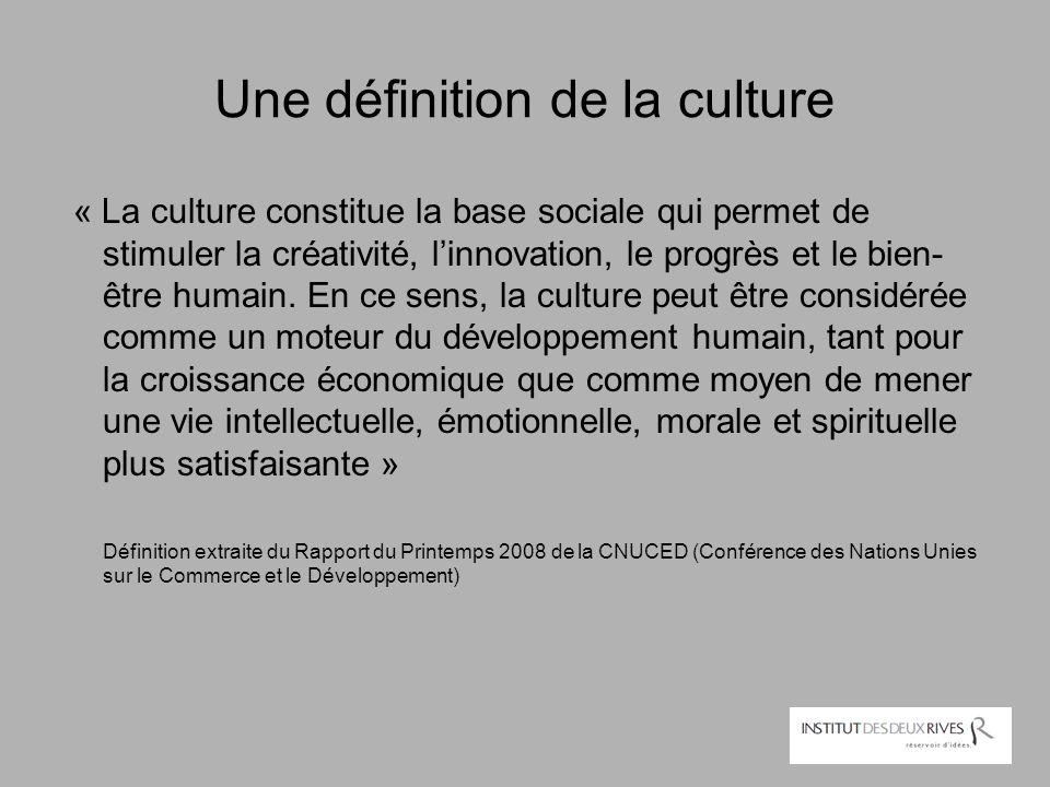 Une définition de la culture
