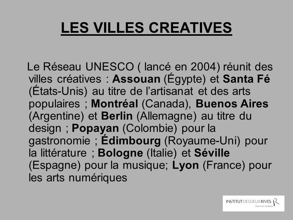 LES VILLES CREATIVES
