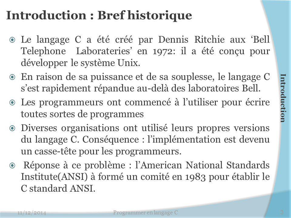 Introduction : Bref historique