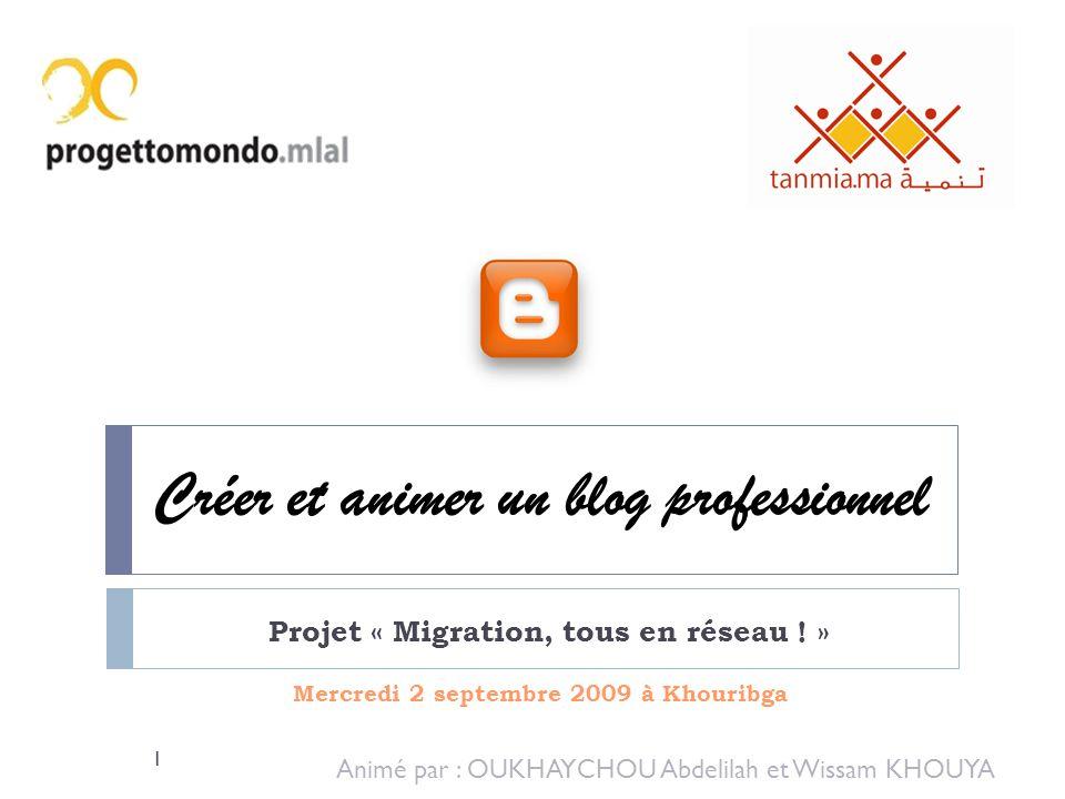 Créer et animer un blog professionnel
